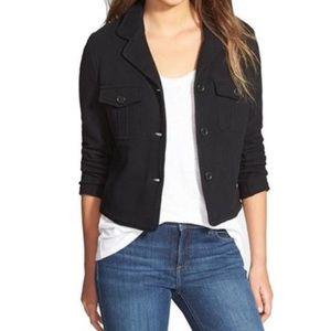 James Perse Black 3 Button Jacket Size 3/Large